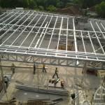 Zone 1 Overall Status Roof Truss installation in progress