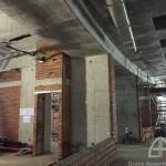 Brick laying at L1 Lift Lobby