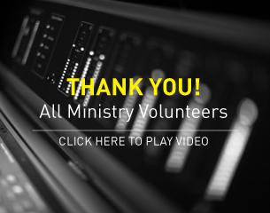 Thank you to ministry volunteers