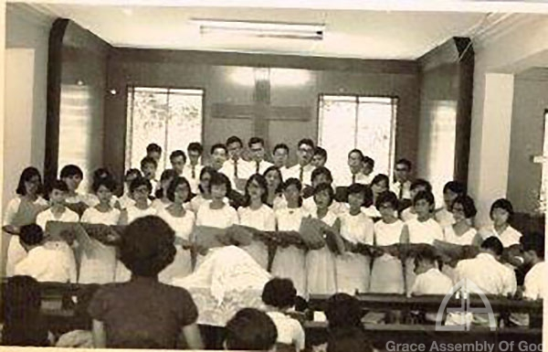 Worship service with Holy Communion and Church Choir Pre 1973