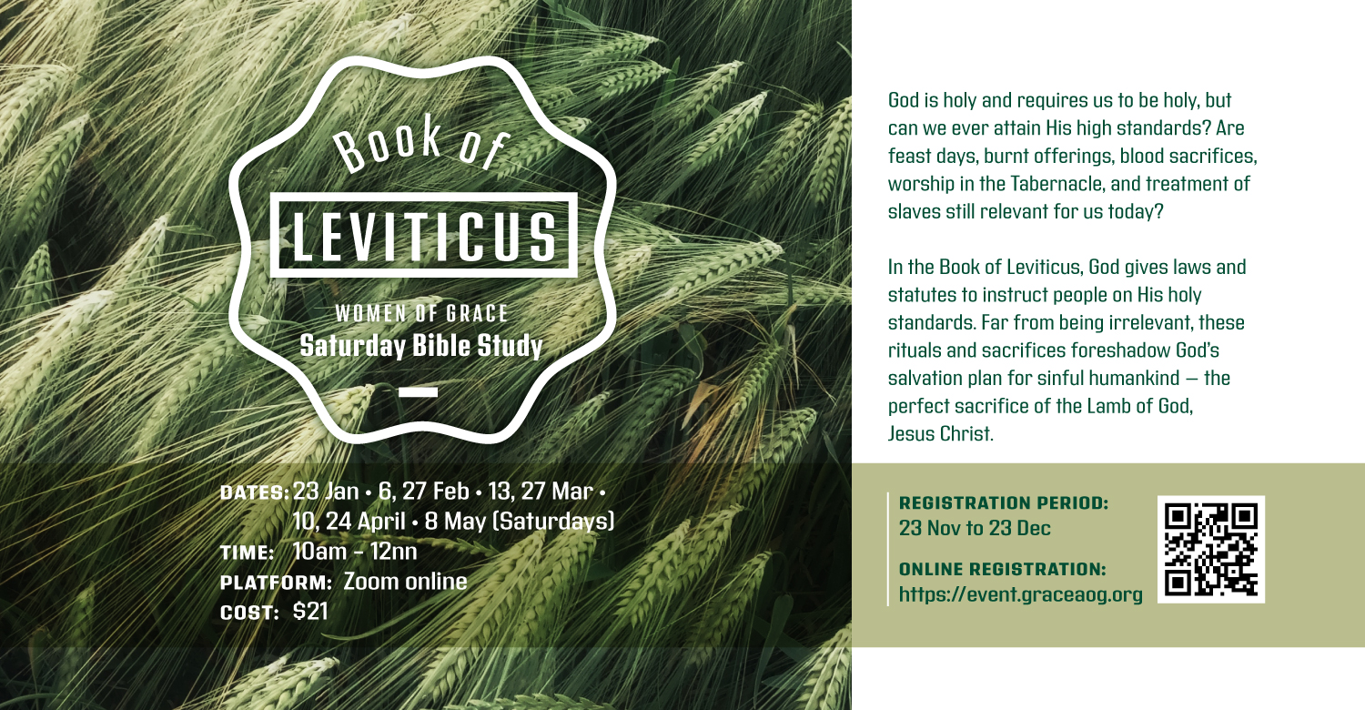 Women of Grace Bible Study - Saturday: Book of Leviticus @ Zoom Online