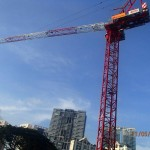 Tower crane erection