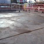 Temporary steel decking
